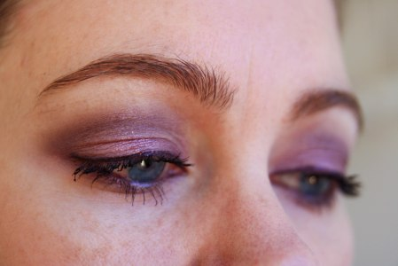 Shu Uemura custom quad purple and pink eyeshadow